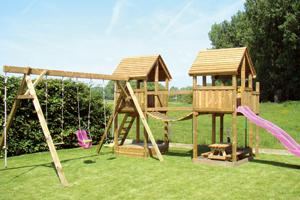 Speeltorens in hout - Buitenspeelgoed voor kinderen