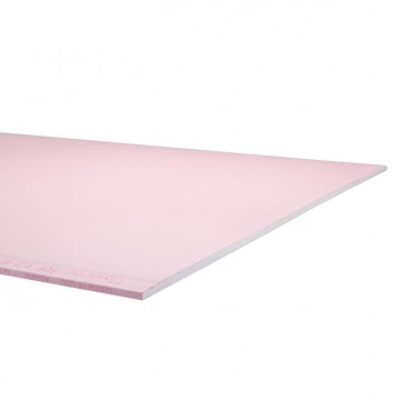 GIPSPLAAT BRANDVERTRAGEND(ROZE) 12.5MM 120X260CM