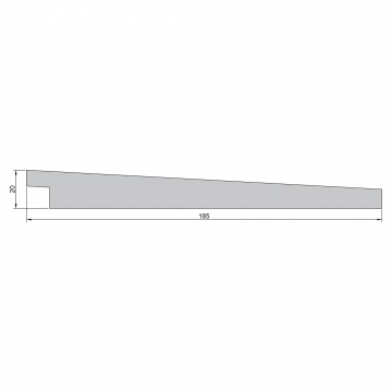 GEVELBEKLEDING THERMOWOOD SIDING 20X185MM