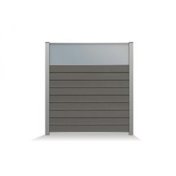 CURTIS TUINSCHERM MET OPAAL GLAS (45CM) (RAL9004 Z