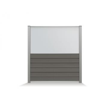 CURTIS TUINSCHERM MET KLAAR GLAS (90CM) (RAL9004 Z