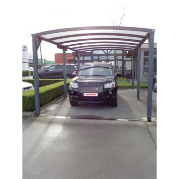 Carport Antraciet - Helder