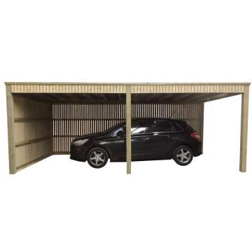 Carport met enkele wand (type1) voor ventilatie